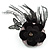 Black Feather Flower And Butterfly Fabric Hair Clip/ Brooch (Catwalk - 2014) - view 4