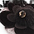 Black Feather Flower And Butterfly Fabric Hair Clip/ Brooch (Catwalk - 2014) - view 5