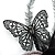 Black Feather Flower And Butterfly Fabric Hair Clip/ Brooch (Catwalk - 2014) - view 6