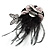 Black Feather Flower And Butterfly Fabric Hair Clip/ Brooch (Catwalk - 2014) - view 10