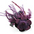 Deep Purple Feather Flower And Butterfly Fabric Hair Clip/ Brooch (Catwalk - 2014) - view 7