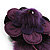 Deep Purple Feather Flower And Butterfly Fabric Hair Clip/ Brooch (Catwalk - 2014) - view 6