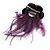 Deep Purple Feather Flower And Butterfly Fabric Hair Clip/ Brooch (Catwalk - 2014) - view 5