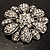 Vintage Swarovski Crystal Floral Brooch (Antique Silver) - view 9