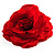 Large Red Fabric Rose Brooch - view 2