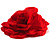 Large Red Fabric Rose Brooch - view 3