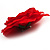 Large Red Fabric Rose Brooch - view 7