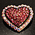 Bronze Tone Dazzling Diamante Heart Brooch (Pink) - view 7
