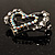 Tiny Open Crystal &#039;Heart in Heart&#039; Brooch (Silver Tone) - view 7