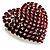 Burgundy Red Diamante Heart Brooch (Silver Tone) - view 2