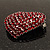 Burgundy Red Diamante Heart Brooch (Silver Tone) - view 6
