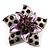 3D Enamel Crystal Flower Brooch (Purple)
