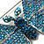 Gigantic Pave Swarovski Crystal Butterfly Brooch (Clear&Blue) - view 5