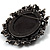 Vintage Round Crystal Cameo Brooch & Pendant (Black Tone) - view 4