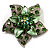 3D Enamel Crystal Flower Brooch (Light Green)