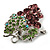 Swarovski Crystal Bunch Of Grapes Brooch (Lilac & Light Green, Silver Tone) - view 6