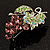 Swarovski Crystal Bunch Of Grapes Brooch (Lilac & Light Green, Silver Tone) - view 4