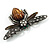 Vintage Diamante  Bee Brooch (Antique Silver Tone) - view 5