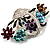 Fancy Enamel Multicoloured Flower Basket Brooch (Silver Tone) - view 5