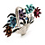 Fancy Enamel Multicoloured Flower Basket Brooch (Silver Tone) - view 6