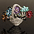 Fancy Enamel Multicoloured Flower Basket Brooch (Silver Tone) - view 2