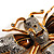 Oversized Gold Diamante Bee Brooch - view 4
