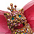 Swarovski Crystal Magnificent Queen Cat Brooch/ Pendant (Gold &amp; Iridescent Pink) - view 2