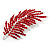 Statement Crystal Leaf Brooch (Bright Red) - view 3