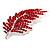 Statement Crystal Leaf Brooch (Bright Red) - view 4