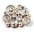Multicoloured Diamante Cluster Brooch (Silver Tone) - view 8