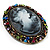 Multicoloured Bronze Vintage Cameo Brooch&Pendant - view 2
