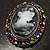 Multicoloured Bronze Vintage Cameo Brooch&Pendant - view 6