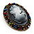 Multicoloured Bronze Vintage Cameo Brooch&Pendant - view 7