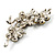 Swarovski Crystal Floral Brooch (Silver Tone & Amber Coloured) - view 7