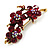 Swarovski Crystal Floral Brooch (Antique Gold & Burgundy Red) - view 6