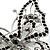 Jet Black Crystal Butterfly Brooch (Silver Tone Metal) - view 5