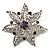 Delicate Violet Diamante Filigree Floral Brooch (Silver Tone)