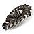 Oversized Slate Black Crystal Twirl Brooch/ Pendant (Gun Metal Finish) - view 4