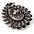Oversized Slate Black Crystal Twirl Brooch/ Pendant (Gun Metal Finish) - view 5
