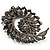 Oversized Slate Black Crystal Twirl Brooch/ Pendant (Gun Metal Finish) - view 7