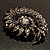 Oversized Slate Black Crystal Twirl Brooch/ Pendant (Gun Metal Finish) - view 9
