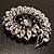 Oversized Dim Grey Crystal Twirl Brooch/ Pendant (Silver Metal Finish) - view 8