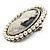 Classic Simulated Pearl Cameo Brooch (Silver Tone) - view 4