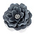 Large Light Grey Crystal Satin Flower Brooch - view 8