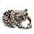 Crystal 'Panda Bear' Brooch (Silver Tone Metal) - view 3