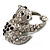 Crystal 'Panda Bear' Brooch (Silver Tone Metal) - view 4