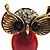 Vintage Enamel Diamante Owl Brooch (Antique Gold Metal) - view 4