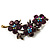 Swarovski Crystal Floral Brooch (Antique Gold & Deep Purple) - view 5