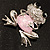 'Smiling Frog' Crystal Brooch (Silver Tone Metal) - view 9