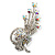 Clear Swarovski Crystal Floral Brooch (Silver Tone Metal) - view 7